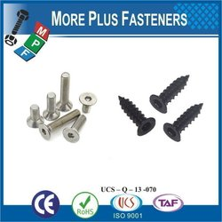 "Taiwan Tapping Screw #6-18 x 1"" Phillips Drive Flat Head Grade 18-8 Type A Point Stainless Steel Sheet Metal Screw"