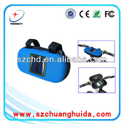 2015 New design portable solar bike/bicycle speaker box for galaxy s4