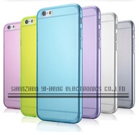 2015 Slim 0.3mm case For iphone 6 Transparent clear Soft Silicon TPU Crystal Clear Case Cover for iPhone 6 with 6 color
