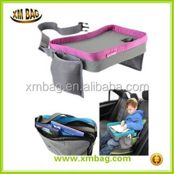 New arrival eco-friendly material hot sale kids travel tray, Child snack and play travel lap tray bag