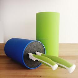 Eco-friendly color non-stick plastic kitchen knife block SB02