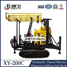 China Manufacturer of XY-200C Crawler Mounted Water Well Boring Machine