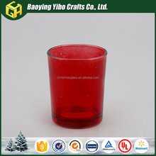 Most popular wholesale glass candle holder christmas