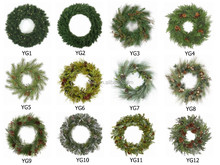 2015 wholesale christmas wreath decorations plastic christmas wreath