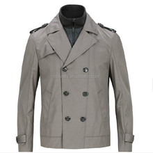 BEST SALE MAN'S Double-breasted and Four Buttoms Short Trench Coat
