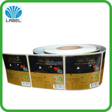 Custom Packaging Sticker Printing Self Adheisve Squeeze Honey Bottle Labels with glossy lamination