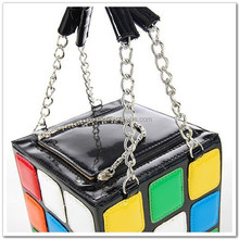 ZOGIFT New popular wholesale cute magic cube shape 2014 fashion lady bag