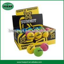 hot selling colorful sport hollow rubber ball
