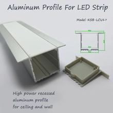 Haute powerrecessed LED coque en aluminium avec opale mat diffuseur PMMA cover pour LED light strip