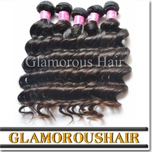 Natural brown natural wave hair, cheap human hair weave, one donor Brazilian remy hair extensions
