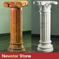 decorativos de mármol natural de la columna de piedra