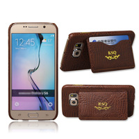 Brand New for Samsung Galaxy S6 crocodile Lines PU Leather Wallet case,stand cover with credit card slots/money pocket