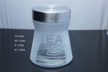 Bulb glass cookie jar with glass dome, glass bowl