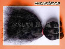 Natural raw stricking tangle free silky curly beautiful human hair extension