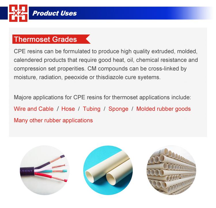 Chemikalien produkte pvc-additive cpe 135a, pvc-rohre rohstoff