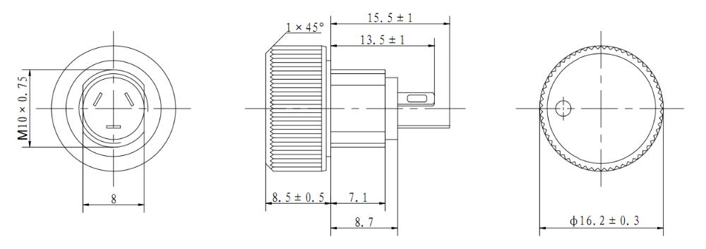 similar p16np vishay potentiometer wi1609 10k ohm
