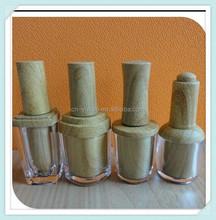 2015 hot sale non spill wholesale 10ml plastic fancy wood grain cap nail polish bottle