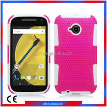Hot New Products For 2015 Smartphone Mobile Phone Cover TPU PC Protector Case Mobile Phone Case For Motorola Moto E2 LTE XT1527