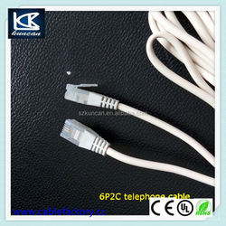 Good qualtiy telephone jumper wire rj11 telephone connect cable for home applicance