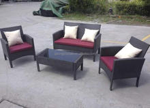 cheap promotional KD mail order 4pc rattan sofa conversation set/rattan outdoor furniture