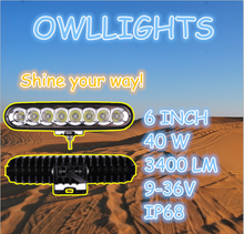 Promotion!! 6inch single row LED Light Bar 40w led Offroad Factory Directly warranty Car LED driving Light Bar for car JeepTruck