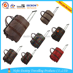 Waterproof Folded Wholesale Nylon and Lining Polyester Luggage Case for Travellers