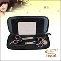 Cabelo profissional tesoura de corte tesouras do barbeiro emagrecimento set kit com uma caixa preta
