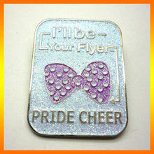 Wholesale fancy metal badge pin with butterfly clip