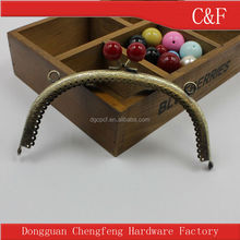 2015 Fashion DIY Sewing metal relief purse frame for handbag with gems and loops