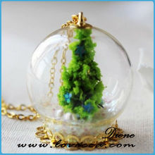 2014 Wholesale homemade glass ornaments glass balls with snow