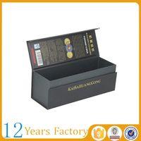 Black magnetic cardboard high-end wine box