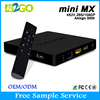 2015 New XBMC KODI Fully Loaded Mini MX Amlogic S905 Android 5.1 tv box Quad Core Smart TV Box with i8 Mini Keyboard