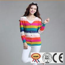 primavera 2015 più venduti striscia donne cappotto maglione lavorato a maglia