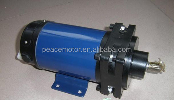 Hollow shaft dc worm gear motors
