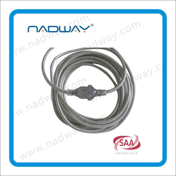 Saa удлинитель, Австралийский питания поводок, Удлинитель сделано в китае с Оплетенный кабель