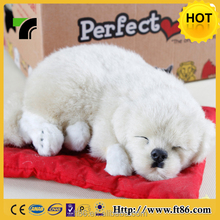 China Kid Toys Fake Fur Toy Sleeping Breathing Dog Looks Real