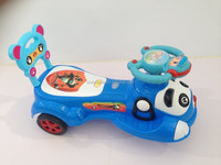 Genuine scooter panda swing car with music Yo baby slide car children twist car