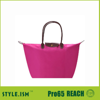 Back handle promotional women hand bag , wholesale cheap shopping bag for maket