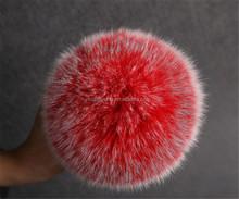 natural raccoon fur ball/fur tail/fox fur ball keychain