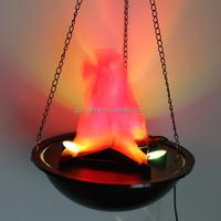 Newest Halloween Pendant Fire Pit Lamp Prop Hanging Flame Light Decoration Chandelier