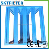Blue 4V bank air filter detachable holding frame