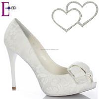 women high heel bridal shoes china/latest design ladies wedding shoes