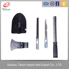 chinese steel material military metal shovel, ax, saw, knife