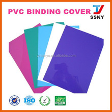 Clear pvc plain color protective pvc book cover for stationery