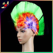 Eco-friendly football fan wigs for sports event,fashion unique cosplay wig