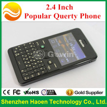New Product 2.4 Inch Querty Mobile Phone with Bluetooth Metal Cover OEM Dual SIM