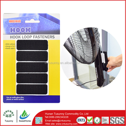 removable self adhesive hook and loop tape dots