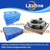 2013 New plastic bread crate mould and household plastic crate box injection mould in taizhou,zhejiang