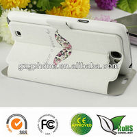 printed leather wallet case for samsung galaxy note 2 n7100