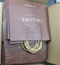 china factory high quality cheap brown kraft paper bags with handles